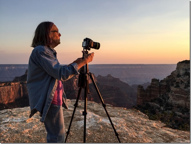 Gaelyn Cape Royal sunset North Rim Grand Canyon National Park Arizona by Rebecca Wilks