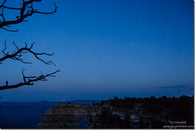 stars Angels Window Cape Royal North Rim Grand Canyon National Park Arizona