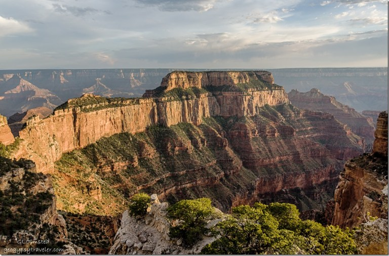 late light Wotans Throne from Wedding site North Rim Grand Canyon National Park Arizona