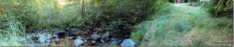 Cave Creek campground host site Siskiyou National Forest Oregon