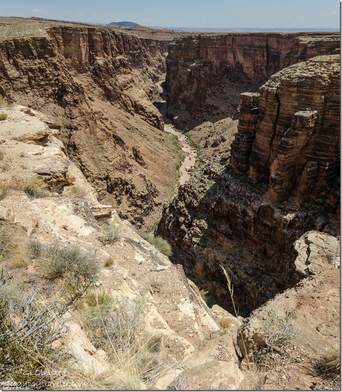 upstream view Little Colorado River Gorge interp site Navajo Rezervation SR64 Arizona