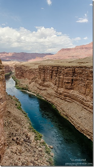 upstream Colorado River clouds Navajo brdge Marble Canyon Arizona