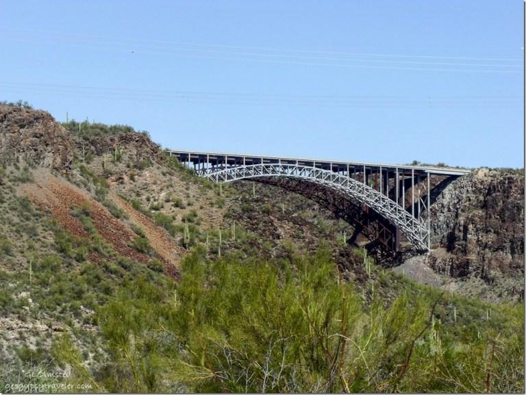 US93 bridge from Burro Creek campground Arizona