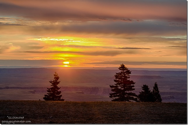 sunrise from Marble View Kaibab National Forest Arizona
