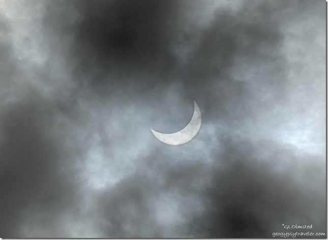 Partial solar eclipse clouds Marble View Kaibab National Forest Arizona