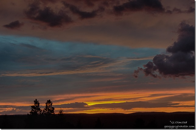 sunset Marble View Kaibab National Forest Arizona