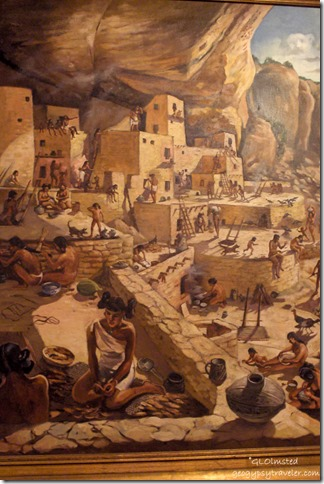 Museum painting of Cliff Palace Mesa Verde National Park Colorado