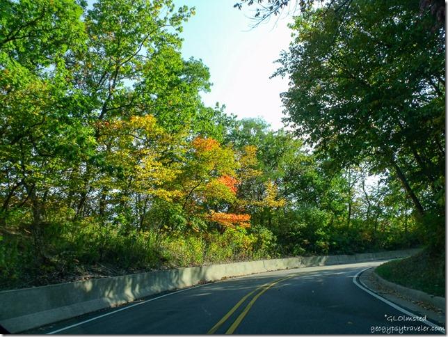 Fall colors along SR71 Illinois
