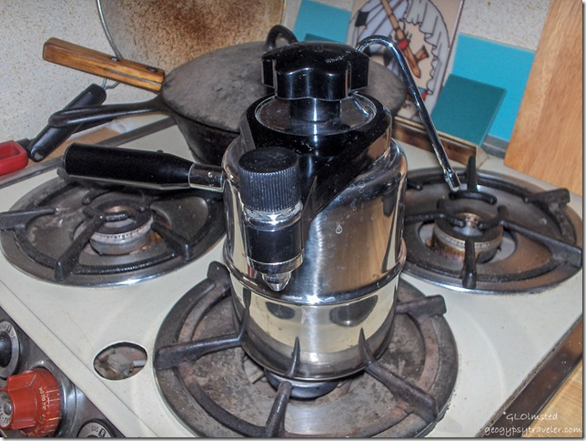 Stove top espresso pot with steamer