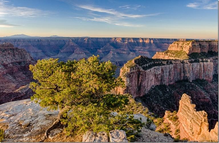 early light Wotans Throne Cape Royal North Rim Grand Canyon National Park Arizona