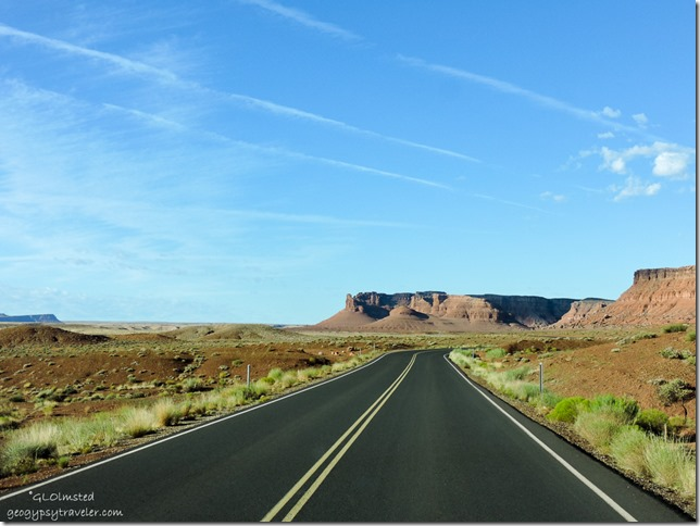 leaving road Lee's Ferry Glen Canyon National Recreation Area Arizona