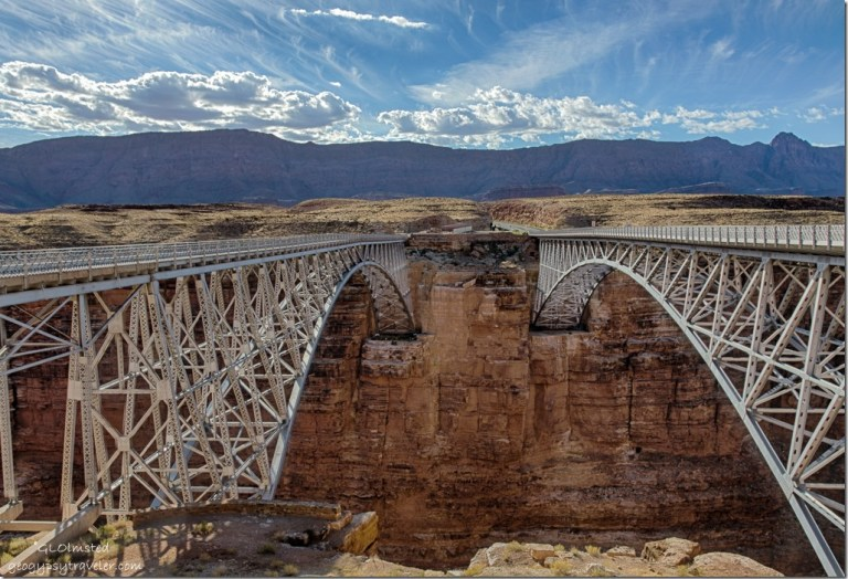 Navajo Bridges cross Marble Canyon Glen Canyon National Recreation Area Arizona