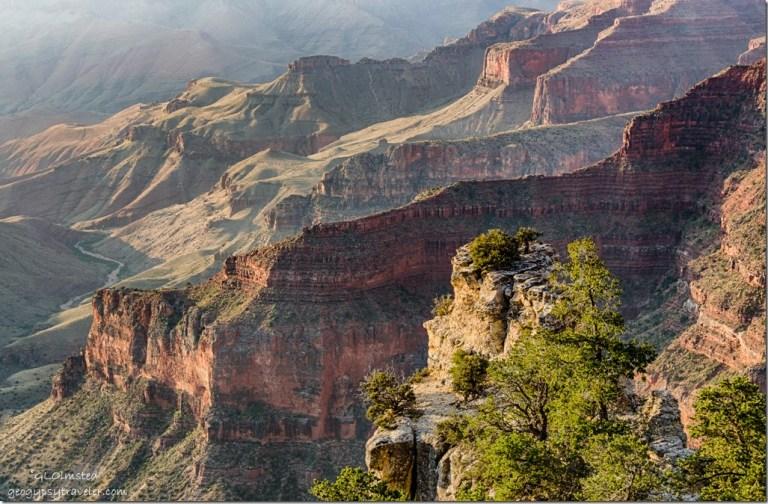 inner canyon Walhalla overlook North Rim Grand Canyon National Park Arizona