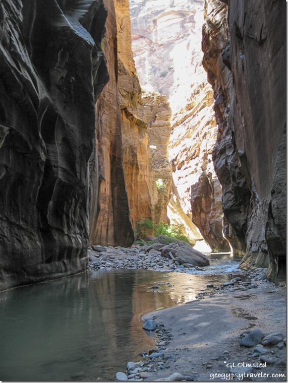 Virgin River upstream Zion National Park Utah