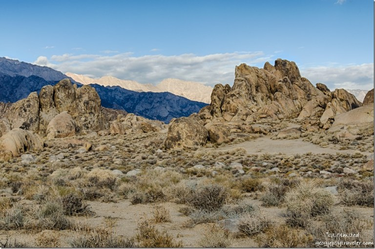 boulders morning light Eastern Sierras Alabama Hills Lone Pine California