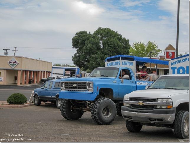 Antelope Canyon tours trucks Page Arizona