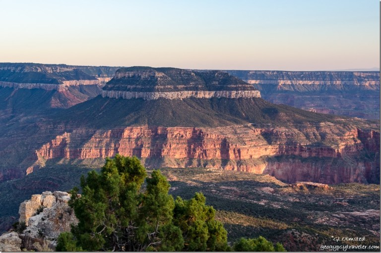 Late light view Suth Crazy Jug Point Kaibab National Forest Arizona