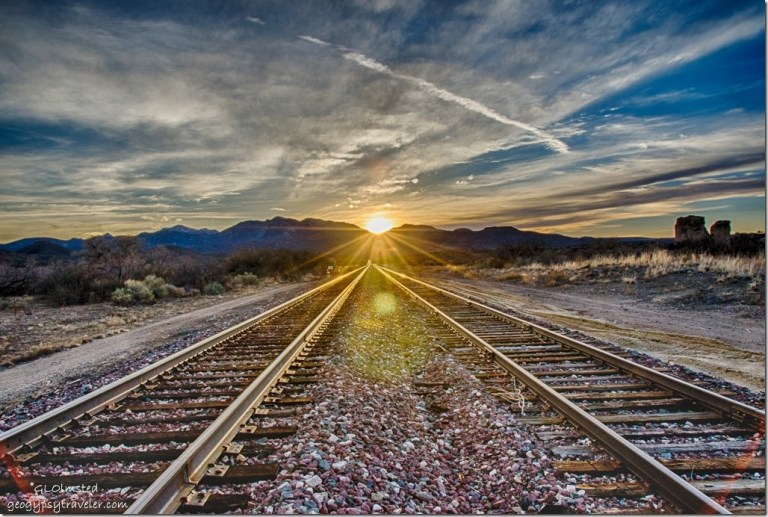 Sunset Railroad tracks Kirkland Arizona