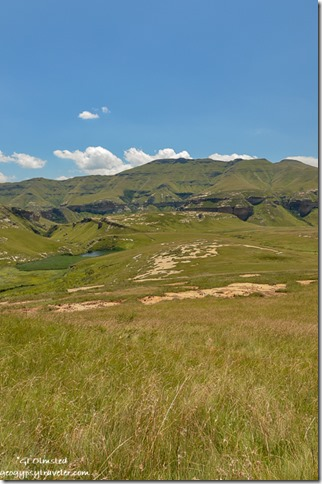View from loop drive Golden Gate Highlands National Park R712 Free State South Africa