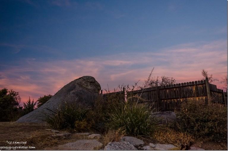 boulder fence sunset Yarnell Arizona