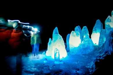 Mystic atmosphere in Lofthellir Cave
