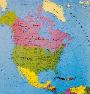 Χάρτης Βόρειας Αμερικής