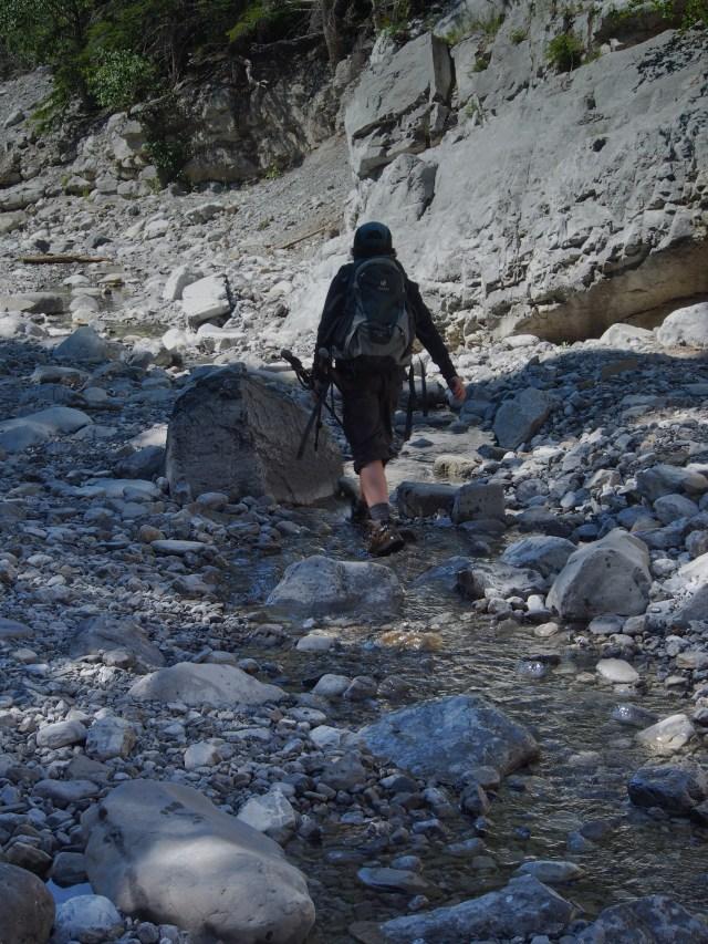 Walking in the creek