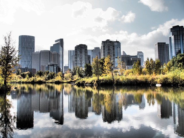 East end of downtown Calgary
