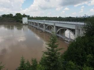 Upstream side of Glenmore Dam