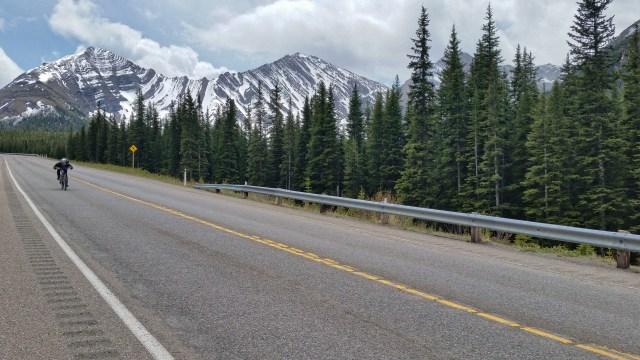 High speed coasting down Highwood Pass