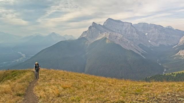 woman on centennial ridge trail