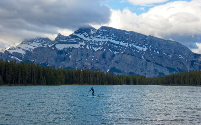 stand-up paddleboard on Two Jack Lake