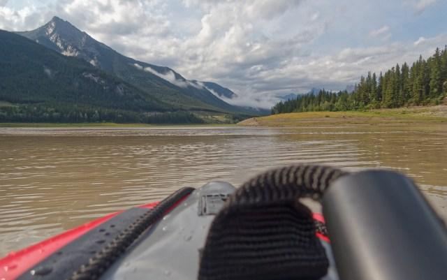 return kayaking Barrier Lake