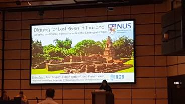 The title slide of my presentation. Photo by Prof Winston Chow.