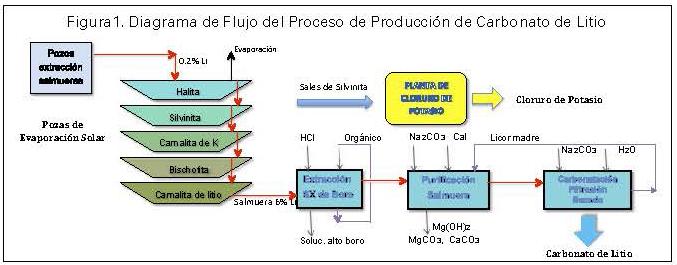 Proceso de Producción de Carbonato de Litio.