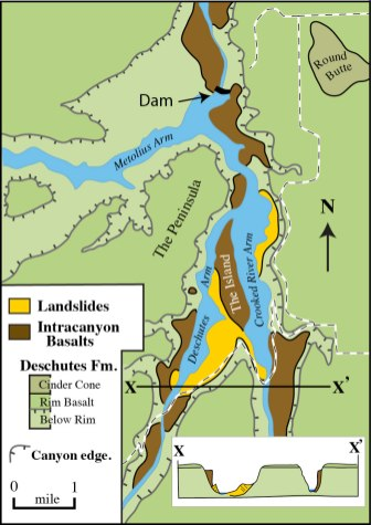 Lake Billy Chinook Map : billy, chinook, December, Geologictimepics