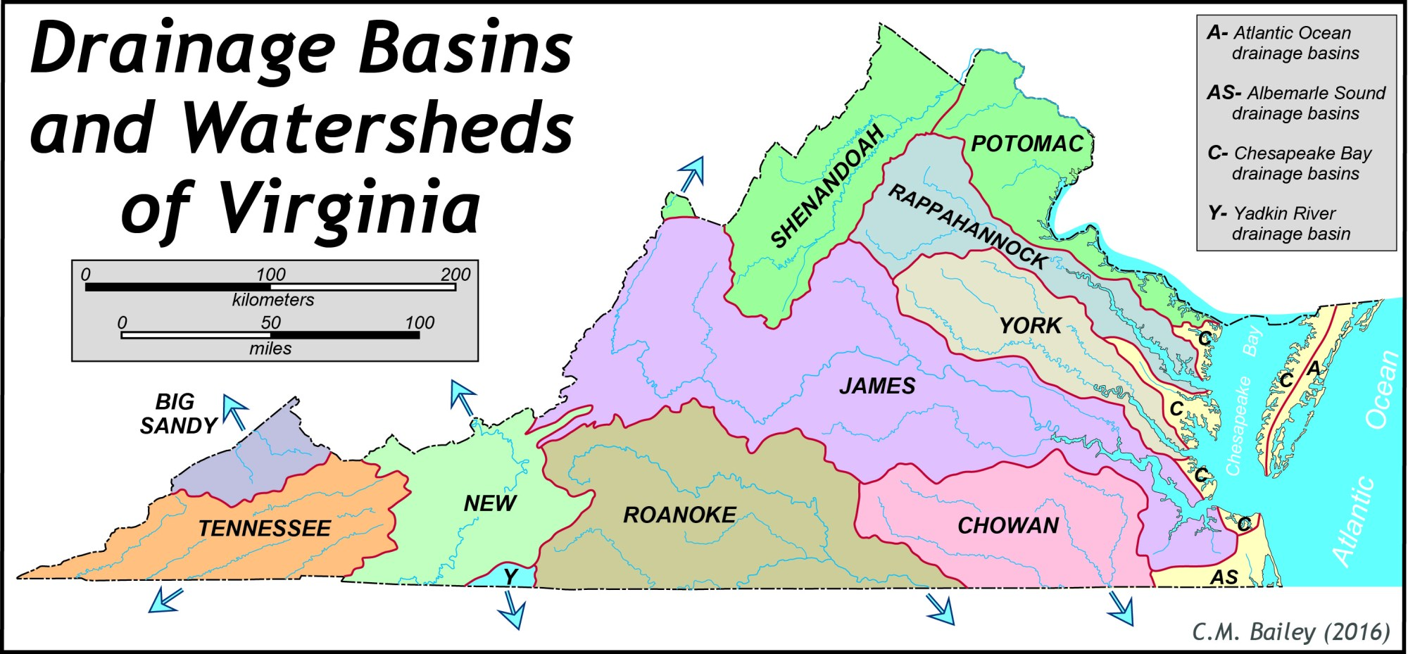 hight resolution of vawatersheds