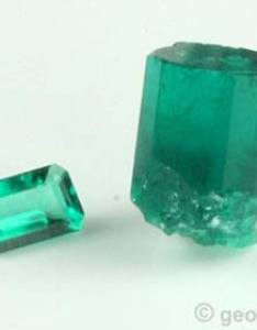 Chatham faceted synthetic emerald and rough also emeralds the world   most popular green gem rh geology