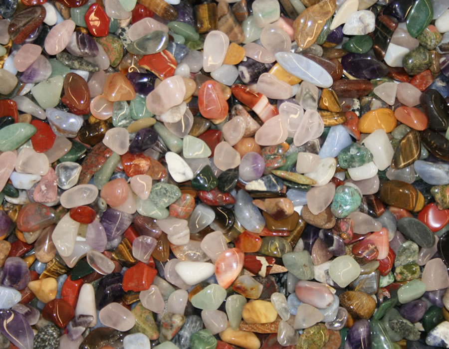 Tumbled Stones Colorful and beautifully polished