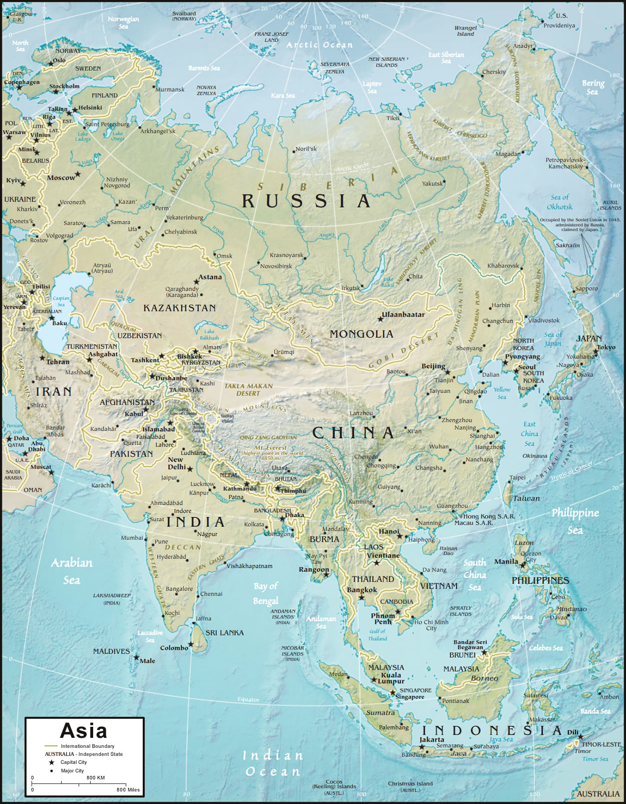 Asia Bodies Of Water Map : bodies, water, Asia:, Government, Officials