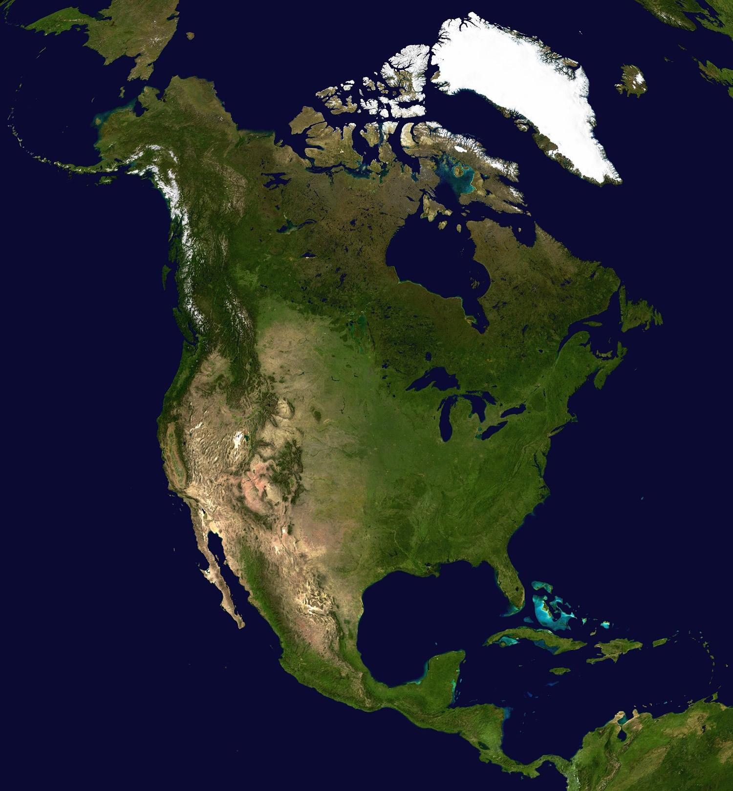 north america map and