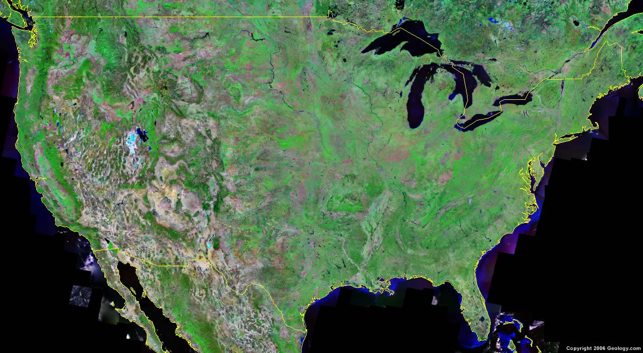 A map legend is a side table or box on a map that shows the meaning of the symbols, shapes, and colors used on the map. United States Map And Satellite Image