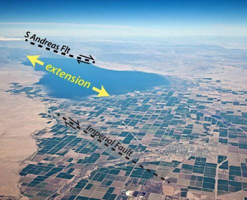 Aerial view of Salton Sea