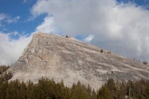 Lembert Dome looking over Yosemite National Park in California.