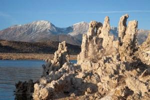 Lakeside Tufa Towers; a spring deposit of calcium carbonate.