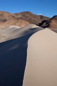Shadowed sand dune