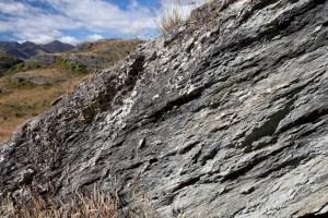 Outcrop of schist, NZ
