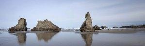 Sea stacks overlooking the Pacific Ocean.