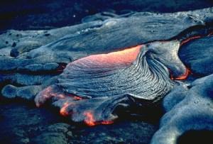 (Image ID# Vc-34) Pahoehoe Lava Flow