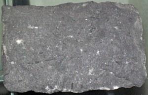 Camptonite lamprophyre (Mesozoic, 100-200 Ma; Campton Falls, Grafton County